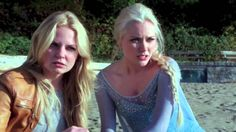 Once Upon A Time 4x09 - Elsa and Anna Reunite! One of my favorite moments