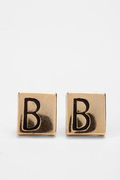 Diament Jewelry for Urban Renewal Vintage Square Initial Stud Earring  #UrbanOutfitters