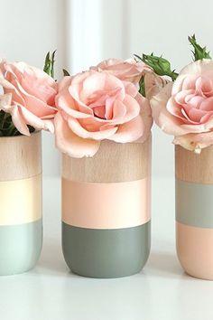 Wooden Vases Home Decor For Flowerore Set Of 3 Gift Her