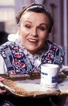 Mrs. Overalls played by Julie Walters . One of the most hilarious characters ever created. Genius of Wood and Walters.