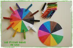 schrijf de kleur op de wasknijper i.p.v.deze te schilderen