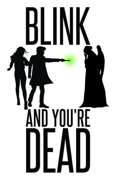 "Doctor Who: Weeping Angels - ""Blink and You're Dead"" Digital Art 11x17 Poster Print by watchitDesigns"