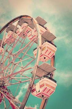 Vintage Ferris Wheel Fotografisk tryk
