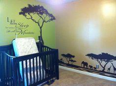 Beautiful Lion King / African themed nursery/kids room. So very pretty! LOVE it! <3