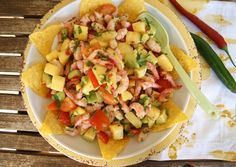 Meksikansk salat med reker og mango
