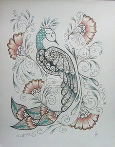henna peacock -  Cool Tattoo Ideas and Pictures Enjoy! http://www.tattooideascentral.com/henna-peacock/