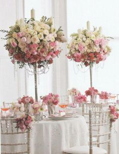 Pretty Pink Wedding Decor