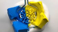 BLUE or YELLOW? Slime Clay Pressing - Satisfying Slime ASMR Videos | OSV...