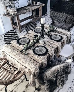 Bohemian # # style # Berber table home decoration handira inlove boheme # Bohemian Interior, Bohemian Decor, White Bohemian, Bohemian Fashion, Bohemian Style, Interior Design Minimalist, Decor Scandinavian, Deco Boheme, Shabby Chic Style