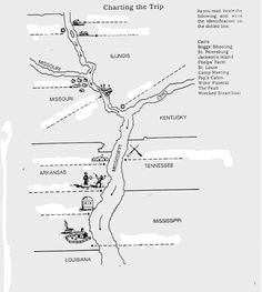The Adventures of Huckleberry Finn Map of Huckleberry Finn