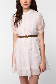 TBA Silk Scalloped Ella Dress. Urban Outfitters.