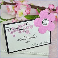 How clever...Cherry Blossom Plantable Seed Wedding Place Cards (set of 12)