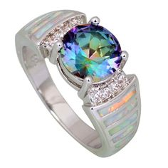 Rainbow Topaz Opal Ring