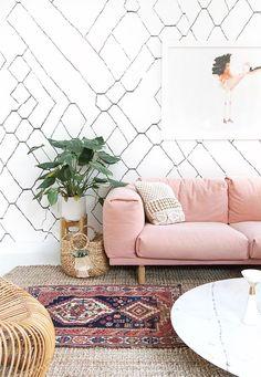 Boho interior design, boheminan living room, boho decor, interior trends 2017, bohemian rug