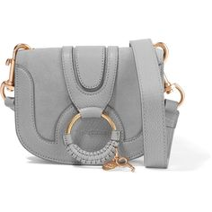 See by Chloé Hana mini textured-leather and suede shoulder bag ❤ liked on Polyvore featuring bags, handbags and shoulder bags