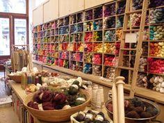 Purl Soho (address: 459 Broome Street) - Yarn Shop in Manhatan, NYC ❥ 4U // hf http://www.pinterest.com/hilariafina/