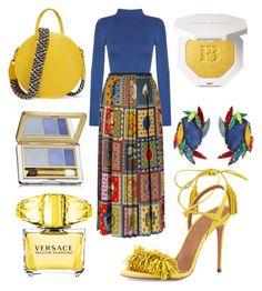 """Vitamine"" by jasminsangalyan on Polyvore featuring WearAll, Gucci, Clare V., Erickson Beamon, Versace, Estée Lauder and Aquazzura"