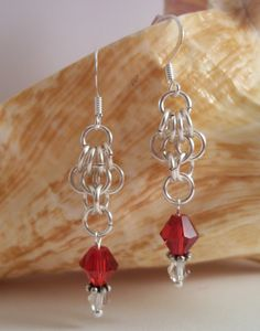 Chainmaille  Earrings by HotShotDesigns on Etsy, $14.25
