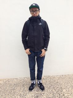 マウンテンパーカー×デニム Basic Style, My Style, Sport Fashion, Mens Fashion, Autumn Winter Fashion, Casual Wear, The North Face, Menswear, Stitches