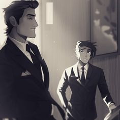 Art by PrinceCanary • princecanary.tumblr.com | Cliff and Theo | Gentleman Town