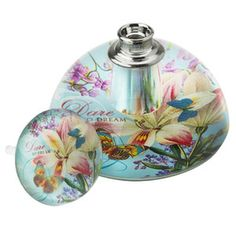Lisbeth Dahl Perfume Bottle with Flowers and Butterflies
