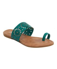 Look at this #zulilyfind! Turquoise Jalila Sandal by Kiss & Tell #zulilyfinds