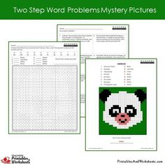Grade 2 Two Step Word Problems Coloring Worksheets Sample 2 Coloring Sheets, Coloring Pages, 2nd Grade Math Worksheets, Coloring Worksheets, 100 Words, Addition And Subtraction, Grade 2, Word Problems, Mystery