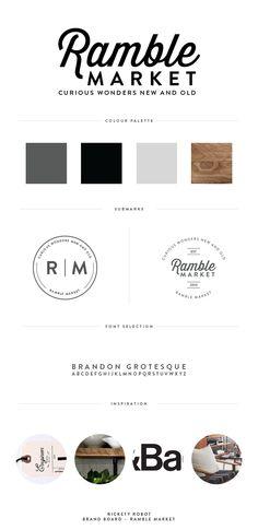 Branding Board, Brand Design, Logo Design, RambleMarket — Rickety Robot