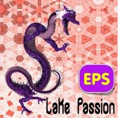 Lake Passion Eastern Dragon .eps vector