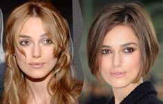 Kiera Knightley so stunning with long or short hair, though darker hair goes better with her face feautres !