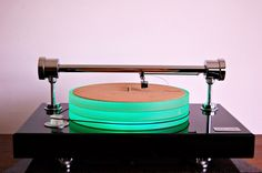 With its parallel tracking arm and LED lit platter, the £4700 Pre Audio GL-1102N Turntable from Poland certainly looks a little out of the ordinary.