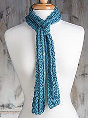 Skinny broomstick scarf free crochet pattern by Marly Bird