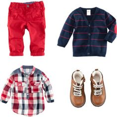 Infant Boy Fall Blue and Red