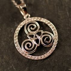 Our Triskele Trinity Necklace glimmers with brilliance. The Triskele or triple spiral design is the Celtic symbol for the three stages of woman; maid, mother and wise woman. Where are you on the spiral of life? Celtic Pride, Celtic Symbols, Celtic Art, Celtic Spiral, Celtic Knots, Geeks, Steampunk, Gypsy Rose, Irish Jewelry