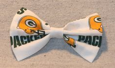 NFL Greenbay Packers Hair Bow by TheRubyPigdotcom on Etsy