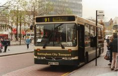 """"""" to when a bus passing may have looked like one from the Old Market Square. Nottingham City, Bus Pass, Bus Coach, Bus Station, Busses, Coaches, Nct, Transportation, Old Things"""