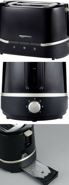 AmazonBasics - Tostadora (800 W, 2 ranuras), color negro