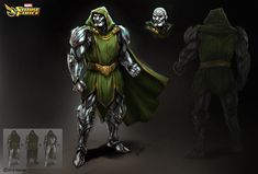 I had the opportunity to design and concept Dr. Doom for We wanted to create a look that stayed classic, but was also unique and menacing. I took the approach of making his attire more regal and high fantasy, while still keeping it Art Basics, Star Wars Light Saber, Fantasy Comics, Body Drawing, Art Station, High Fantasy, Male Body, Overwatch, Marvel Dc