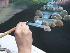 Dante pintando piedras en un puente. - YouTube Make It Yourself, Oil Paintings, Youtube, Painting On Fabric, Painting Videos, Painting Tutorials, Paintings, Scenery, Painted Rocks