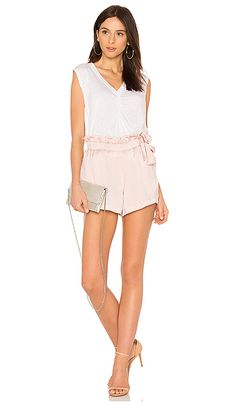 c95bd81852 Shop for David Lerner Waist Tie Shorts in Blush at REVOLVE.