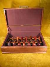 Vintage Oak Tobacco Smoking Pipe Display Case for 15 Pipes
