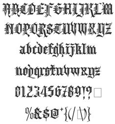 Kingthings Spikeless Blackletter Font Style Designed by Kingsthings