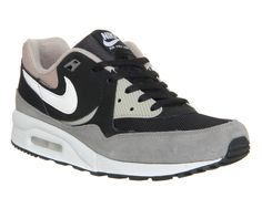 Nike Air Max Light Black White Chino Flat Pewter - Hers trainers