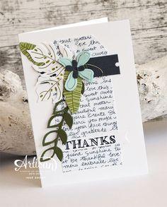Stampin' Cards and Memories: Artisan Design Team 2015-2016 Bloghop #10 - Botanical Blooms en voor de teksten Helping Me Grow