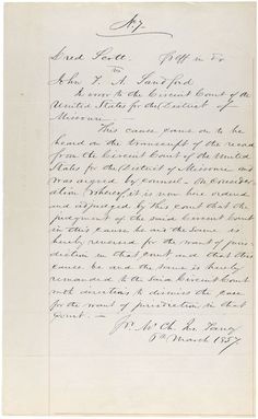 From Dred Scott to the Civil Rights Act of 1875   In this activity, students will examine sequential primary sources relating to the events that led to this change and write eight short descriptions explaining the relationships between the historical events.