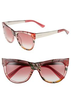 Gucci 'Flora' 55mm Retro Sunglasses available at #Nordstrom