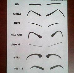 Mexican women are beautiful... but girls, we need to make some eyebrow decisions! Which one are you?