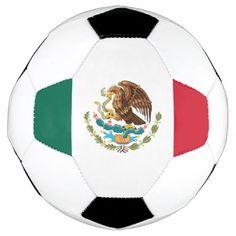 Flag of Mexico Soccer Ball