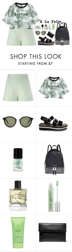 """""""A la folie"""" by bae01 ❤ liked on Polyvore featuring Valentino, H&M, Yves Saint Laurent, Blink, Michael Kors, Miller Harris, Urban Decay and Marni"""