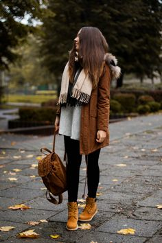 Timberland Boots, an American Icon ~ Fashion & Style Winter Boots Outfits, Casual Winter Outfits, Winter Fashion Outfits, Autumn Winter Fashion, Fall Outfits, Outfit Winter, Mode Timberland, Timberland Outfits Women, Timberland Boots Outfit